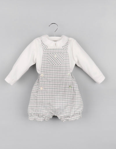 Checked 2 pc Bubble Romper - Posh Tots Children's Boutique