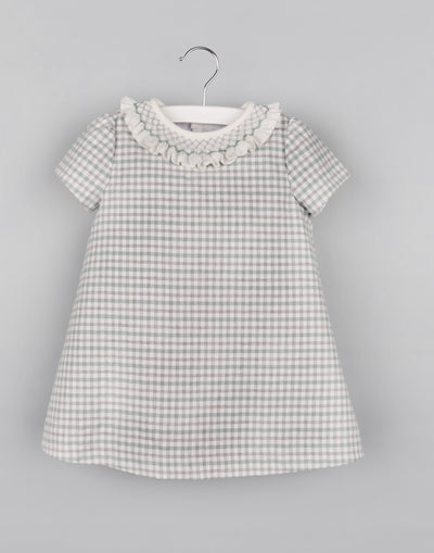 Green Check Smocked Dress - Posh Tots Children's Boutique