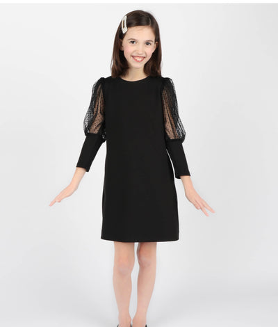 Claire Shift Dress - Black - Posh Tots Children's Boutique