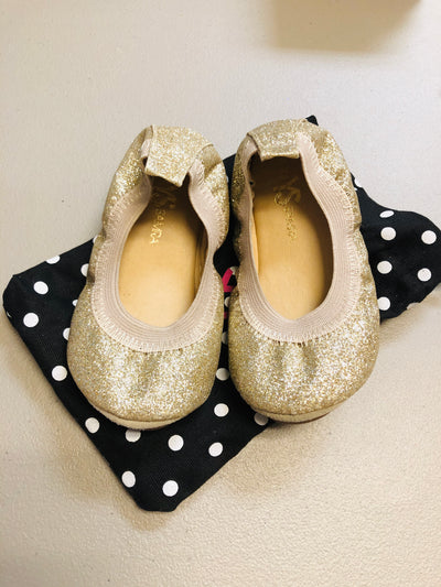Yosi Glitter Gold Ballet Slipper - size 6 - Posh Tots Children's Boutique
