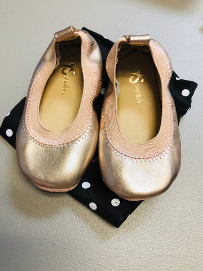 Yosi Rose Gold Ballet Slipper - size 5 - Posh Tots Children's Boutique