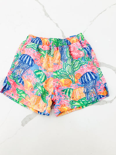 Board Short - Tropical Print - Posh Tots Children's Boutique