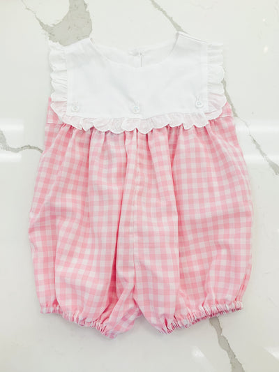 Emma Bubble - Pink Check - Posh Tots Children's Boutique