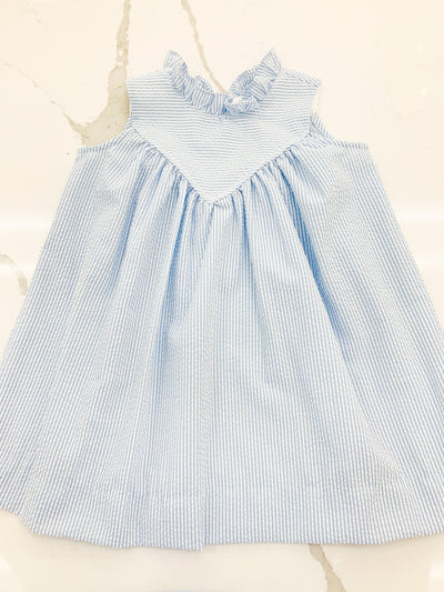 Princeton Dress - Blue Stripe - Posh Tots Children's Boutique