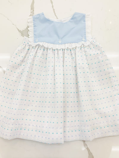 Emma Dress - Pastel Swiss Dot - Posh Tots Children's Boutique