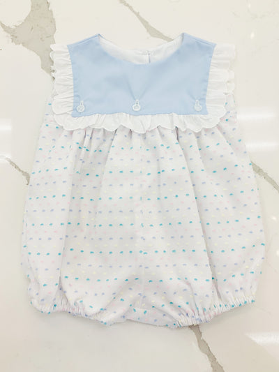 Emma Bubble - Pastel Swiss Dot - Posh Tots Children's Boutique