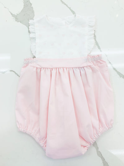 Elizabeth Bubble - Pink Broadcloth - Posh Tots Children's Boutique