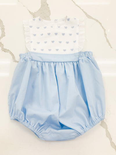 Elizabeth Bubble - Blue Bows - Posh Tots Children's Boutique