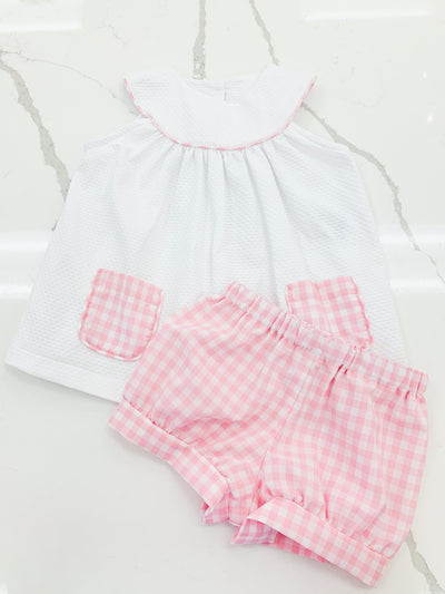 Kayla Girl Set - White Birdeye - Posh Tots Children's Boutique
