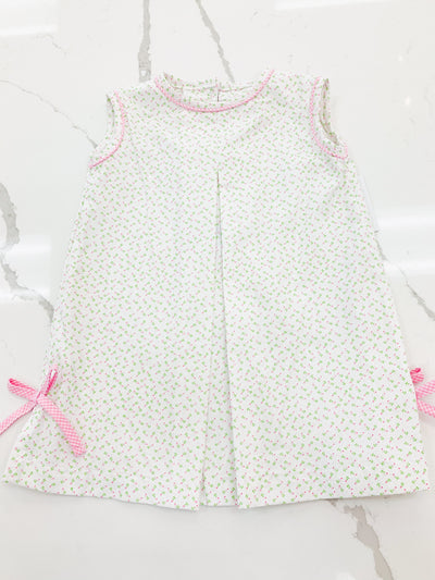 Emily Dress - Pink Rosebud - Posh Tots Children's Boutique