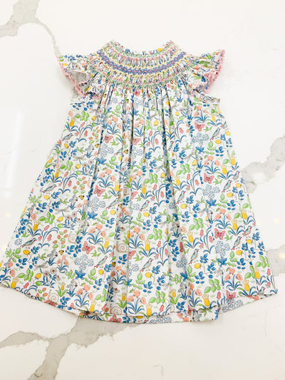 Spring Garden Liberty Floral Angel Wing Bishop - Posh Tots Children's Boutique