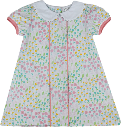 PRE ORDER Josie Dress - Tip Toe Through the Tulips - Posh Tots Children's Boutique