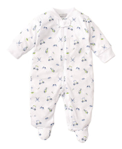 Double Bogey Zip Footie - Posh Tots Children's Boutique