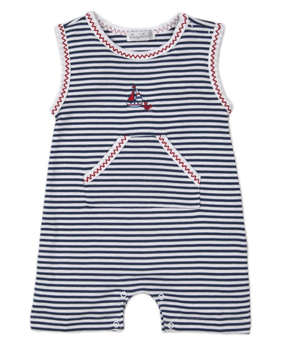 Summer Seas Sleeveless Playsuit - Posh Tots Children's Boutique
