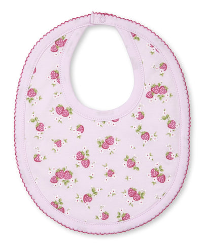 Strawberry Soiree Print Bib - Posh Tots Children's Boutique