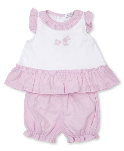Pique Bunny Fam Sunsuit Set - Posh Tots Children's Boutique
