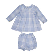 Load image into Gallery viewer, Lauren Blue Bloomer Set - Posh Tots Children's Boutique