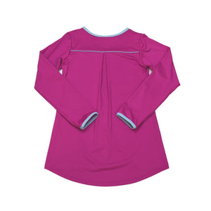 Lindsay Long Tee - Fuchsia - Posh Tots Children's Boutique