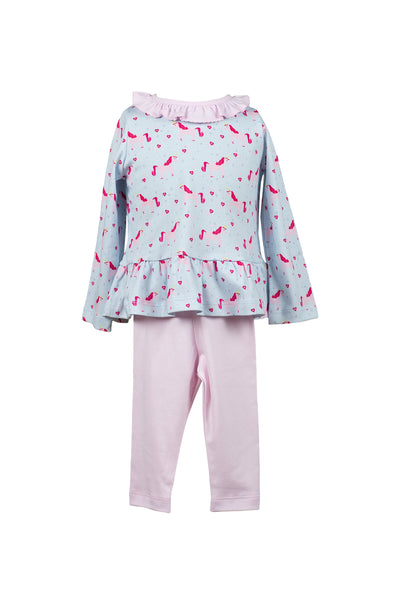 Lula Unicorn Ruffle Tunic - Posh Tots Children's Boutique
