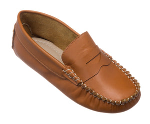 Logan Driver Loafer, Natural - Posh Tots Children's Boutique