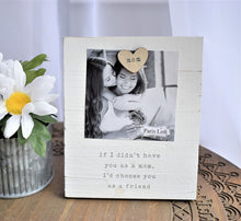 "Load image into Gallery viewer, ""Mom"" Wooden Photo Frame - Posh Tots Children's Boutique"