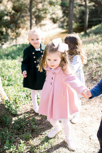 PRE ORDER Princess Bow Back Coat - Southern Weight - Posh Tots Children's Boutique