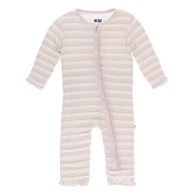 Sweet Stripe Zippered Coverall - Posh Tots Children's Boutique