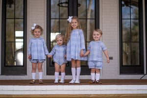 Lauren Blue Bloomer Set - Posh Tots Children's Boutique