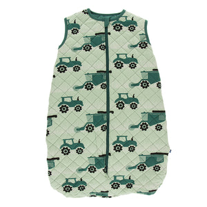 Tractors & Wheat Quilted Sleeping Bag - Posh Tots Children's Boutique