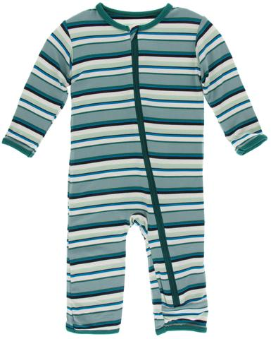 Multi Agriculture Stripe Coverall with Zipper - Posh Tots Children's Boutique
