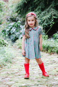 Paige Plaid Dress - Posh Tots Children's Boutique