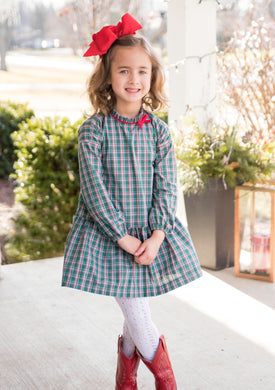 Penelope Plaid Dress - Posh Tots Children's Boutique