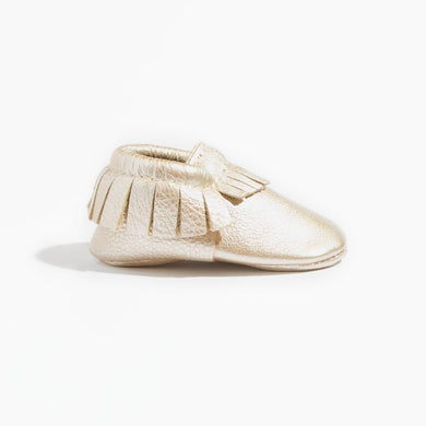 Platinum Moccasins - Posh Tots Children's Boutique