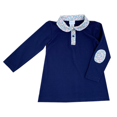 Playful Polo Dress - Keep Blooming - Posh Tots Children's Boutique