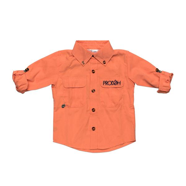 Tangerine Fisherman Shirt - Posh Tots Children's Boutique