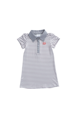 Grey Stripe Performance Dress