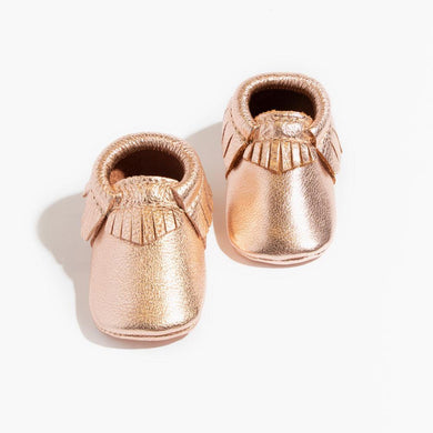 Rose Gold Moccasins - Posh Tots Children's Boutique