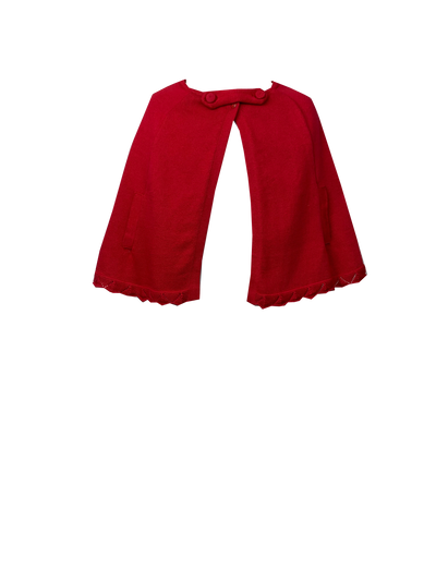 Royal Cape Sweater - Red - Posh Tots Children's Boutique