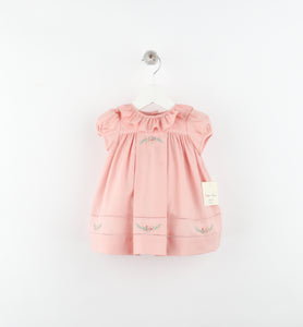 Dusty Rose Ruffle Dress - Pink - Posh Tots Children's Boutique
