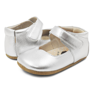 Astrid Mary Jane for Baby - Silver Metallic - Posh Tots Children's Boutique
