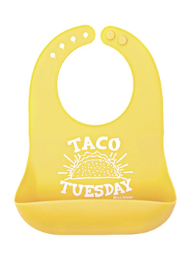 Bib, Taco Tuesday Yellow - Posh Tots Children's Boutique