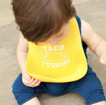 Load image into Gallery viewer, Bib, Taco Tuesday Yellow - Posh Tots Children's Boutique