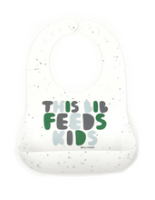 Load image into Gallery viewer, Bib, This Bib Feeds Kids Green - Posh Tots Children's Boutique