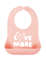 Load image into Gallery viewer, Bib, Love More - Posh Tots Children's Boutique