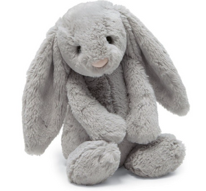 Medium Bashful Grey Bunny - Posh Tots Children's Boutique