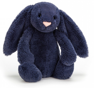 Medium Bashful Navy Bunny - Posh Tots Children's Boutique