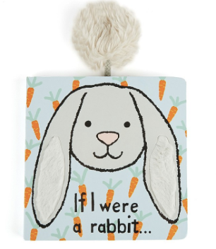 If I Were a Rabbit Board Book -Grey - Posh Tots Children's Boutique