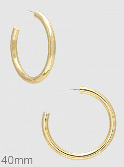 Bold Open Round Hoops - Posh Tots Children's Boutique