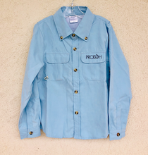 Load image into Gallery viewer, Prodoh Fishing Shirt, Baby Blue - Posh Tots Children's Boutique