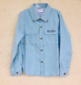 Baby Blue Solid Fisherman Shirt - Posh Tots Children's Boutique